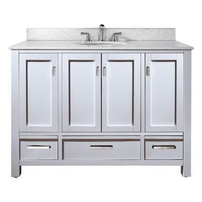 avanity modero 48 inch vanity only in white finish modero v48 wt