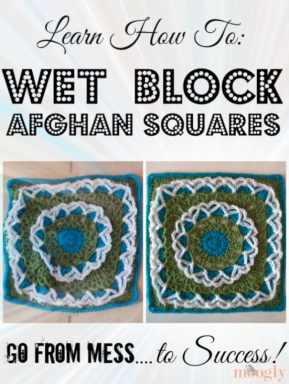 Crochet Blocking : How to Block Crochet Afghan Squares If you?ve made an afghan square ...
