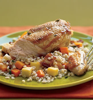 Autumn Herbed Chicken with Fennel and Squash. I use GF flour. This is ...
