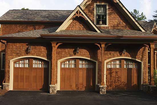 Stunning rustic craftsman home plan for Luxury garage plans