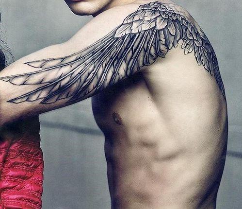 Wing Tattoo Shoulder Blades a quaint toy bo...