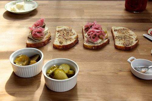pickles and brie grilled cheese by joy the baker, via Flickr