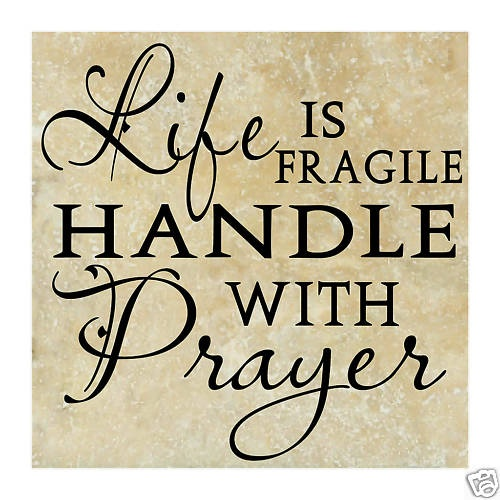 Vinyl lettering LIFE PRAYER word quote wall
