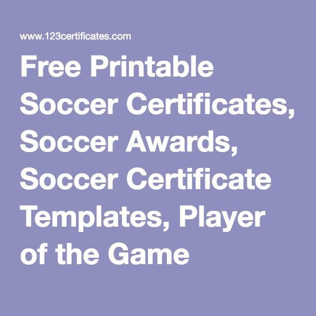 Soccer Certificate Template Datariouruguay