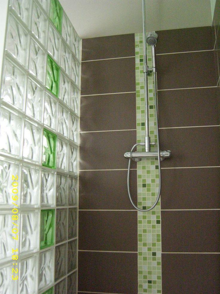 Mur de verre - Mur en verre salle de bain ...