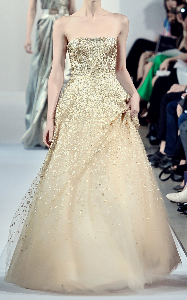 Golden Wedding Dress