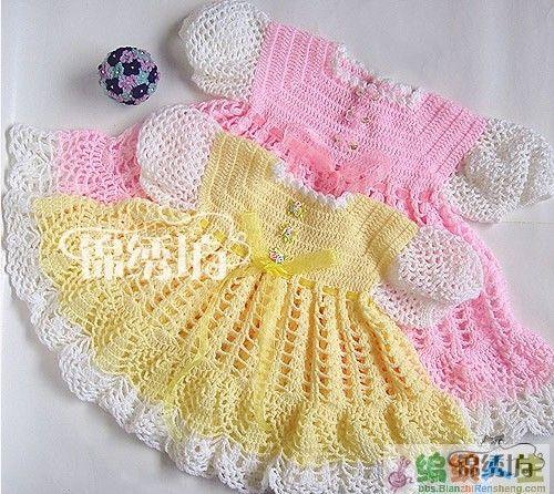 Мастер класс по вязанию платьев для малышек