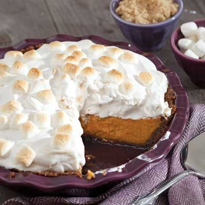 Sweet Potato Pie with Marshmallow Meringue - Celebrate Magazine