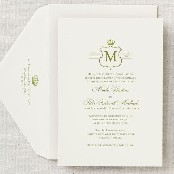 prince william wedding invitation