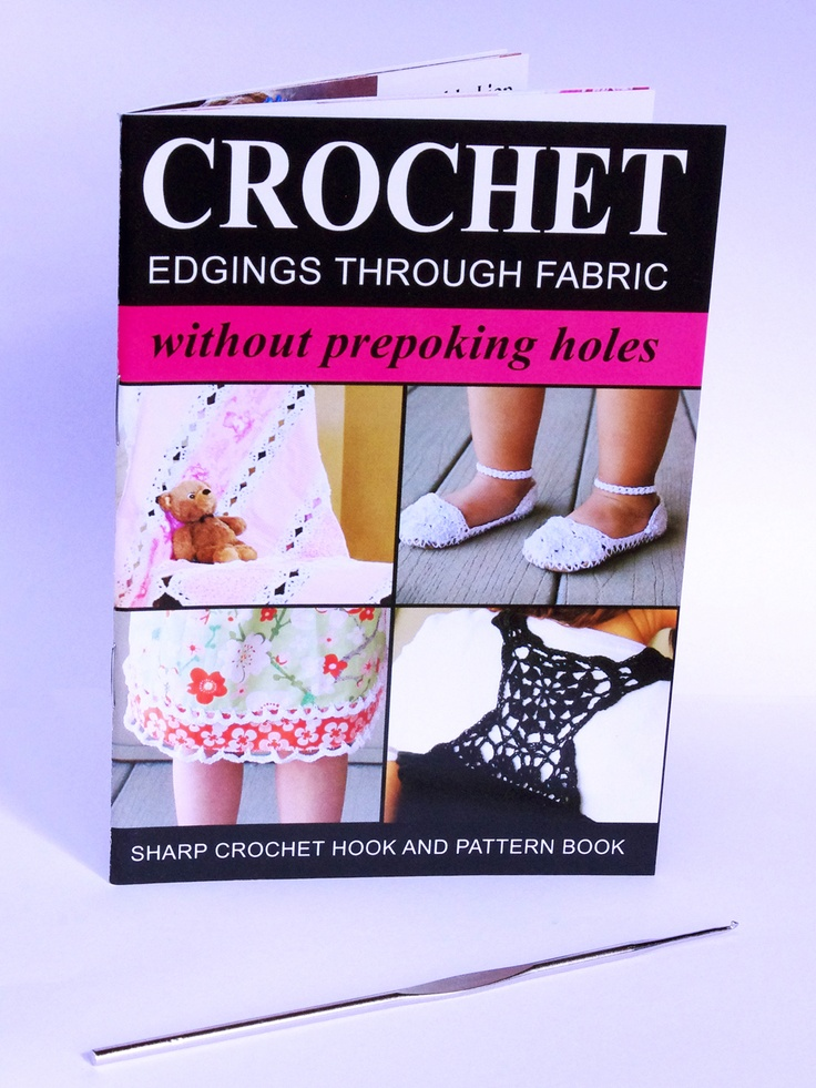 Crochet edgings through fabric (or paper) without prepoking holes