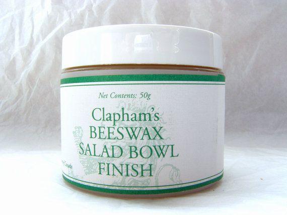 Beeswax Salad Bowl Finish