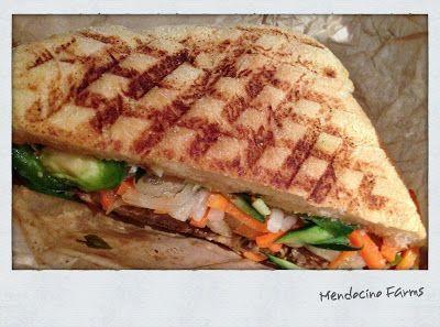 ... Steak Banh Mi from Mendocino Farms at California Plaza #dtla
