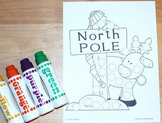 Christmas Paint Dauber Sheets. Located at 1 - 2 - 3 Learn Curriculum