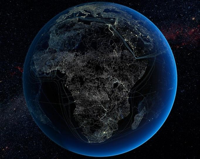 earth at night wallpaper Photo