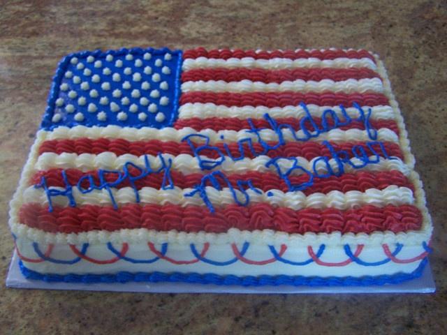 American Flag Cake, via Flickr. | yummm :) | Pinterest