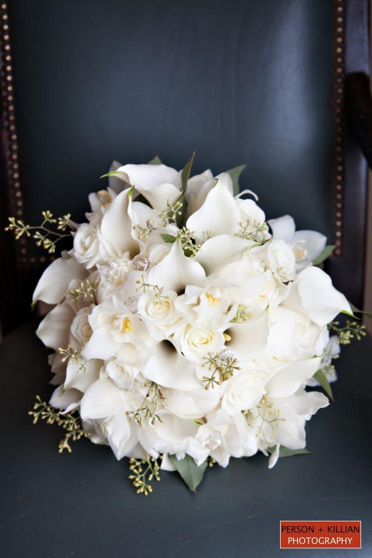 Wedding Bouquet White Bridal Bouquet White Wedding Flowers Boston