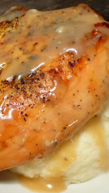 """Slow Cooker """"Roasted"""" Herb Chicken with Gravy (sub corn starch for ..."""