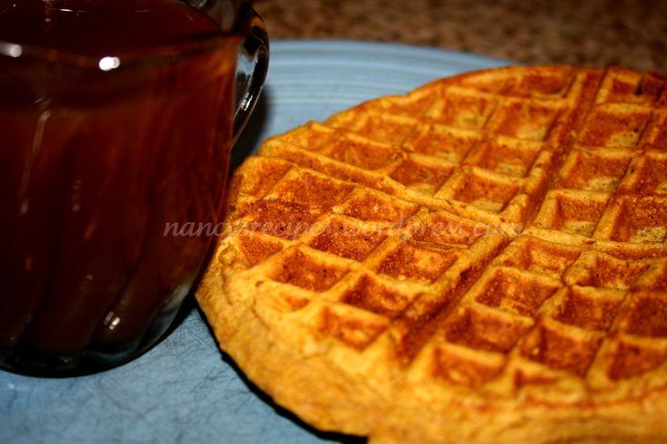 Pumpkin Waffles and Apple Cider Syrup | Breaksfast | Pinterest