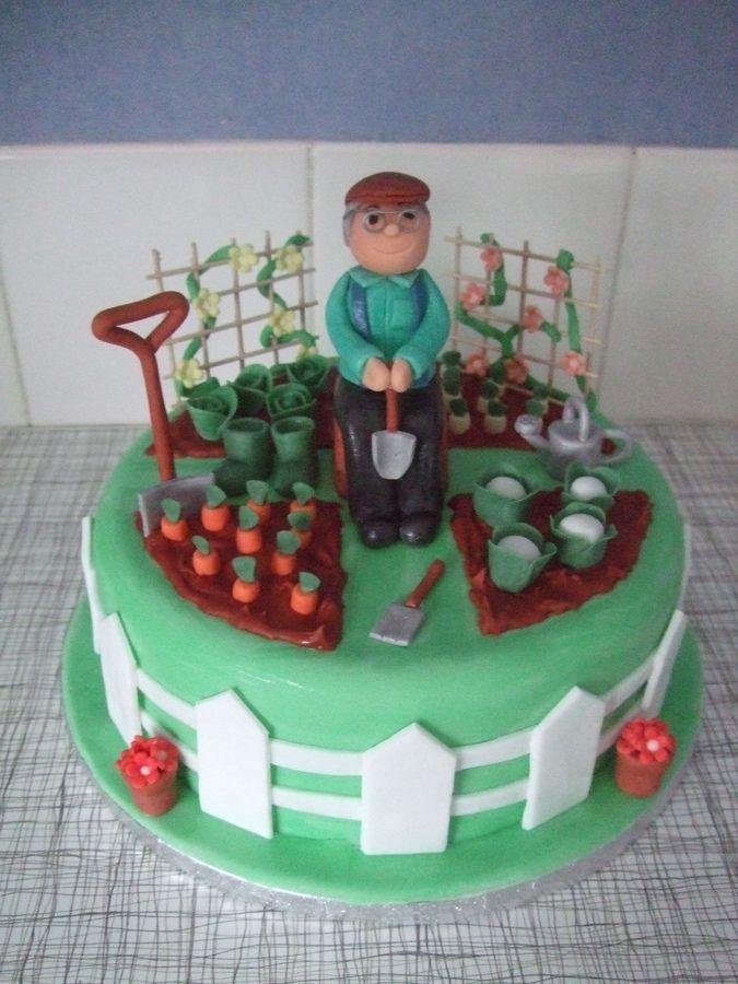 Garden Birthday Cakes Peggy 39 S 80th Birthday Ideas Pinterest
