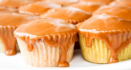 I'm making these for Jake's birthday. Carmel apple cupcakes.
