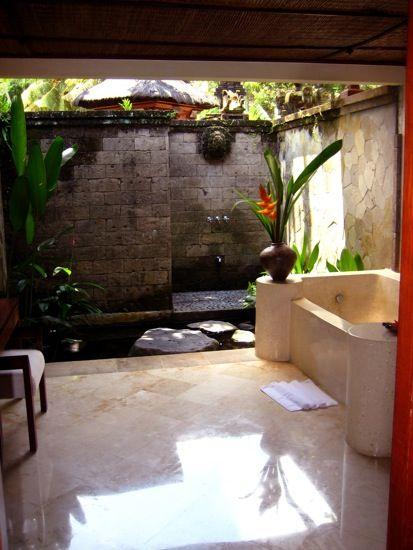 Bathroom koi pond outdoor shower yes please thanks for Bathtub fish pond