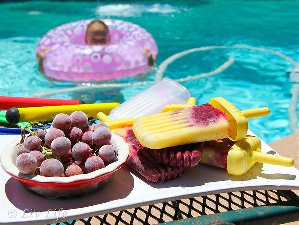 Frozen Blueberry Pineapple Pops | mmmm...desserts | Pinterest