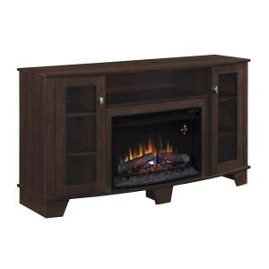 WANT!! Hampton Bay Grand Haven 59 in. Media Console Electric Fireplace in Dark Cherry-25MM4495-PC72 at The Home Depot