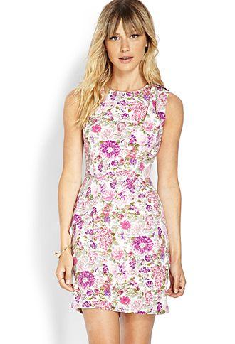 Floral Petal Skirt Dress | FOREVER21 - 2000070391