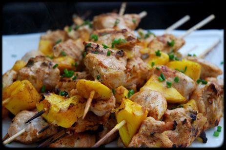 Coconut Mango Chicken Kabobs | Soul Food | Pinterest