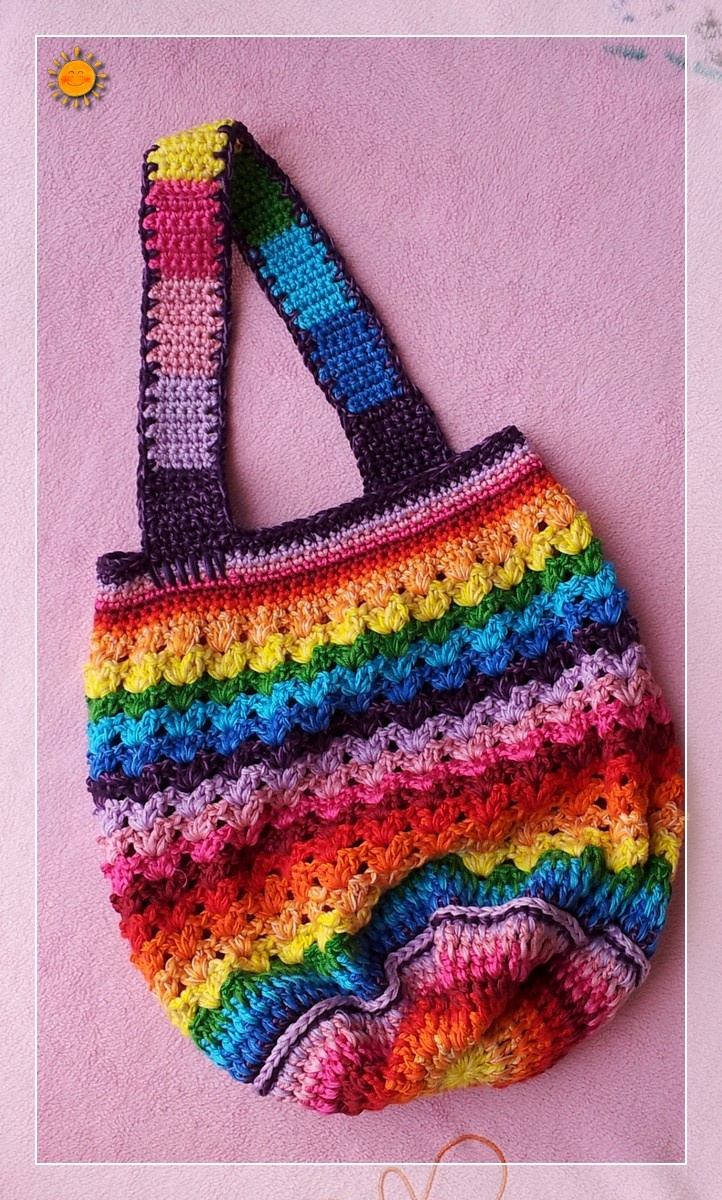 A Rainbow Bag! Free Pattern Crochet Pinterest