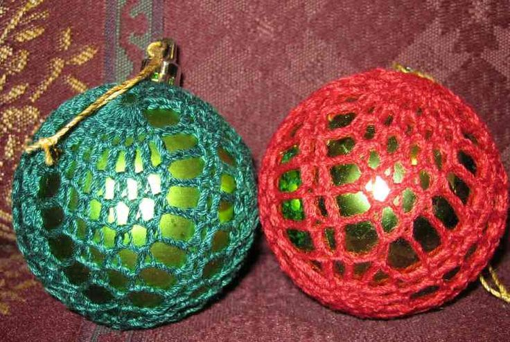 Free Crochet Patterns For Christmas Ball Covers : Pin by Kenny Tilton on Christmas Pinterest
