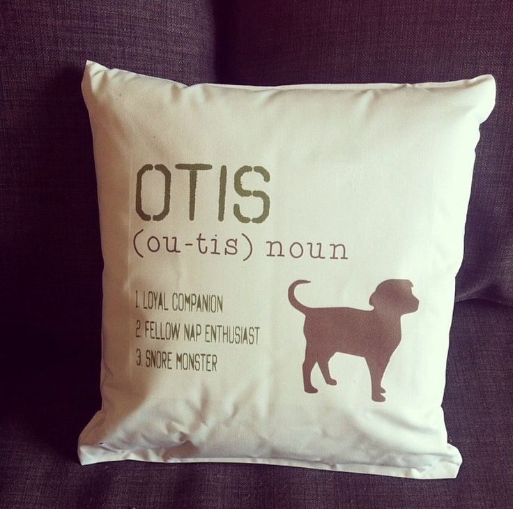 "Soooo cute! You can personalize this ""Definition of My Dog"" pillow with all your own info so it matched your pet! LOVE this! #Pillow #Dog #PetGift"