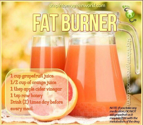 Fat Burner Drink ? | Eating Cleaner &Healthier | Pinterest