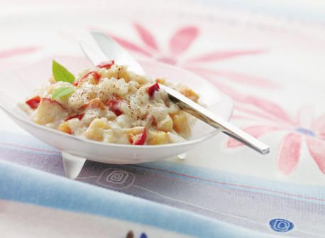 Apple Rice Pudding (made with brown Italian round rice, used 1/2T ...