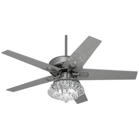 52 windstar ii steel crystal light kit ceiling fan. Black Bedroom Furniture Sets. Home Design Ideas