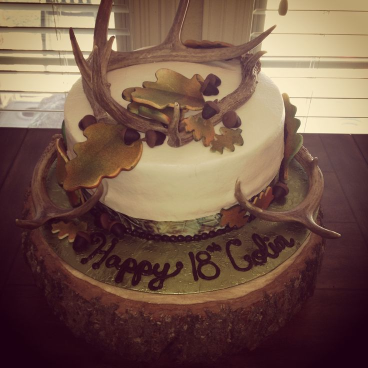 Hunting birthday party decorations party ideas deer hunting party - Camo Hunting Cake Would Make A Pretty Wedding Cake For