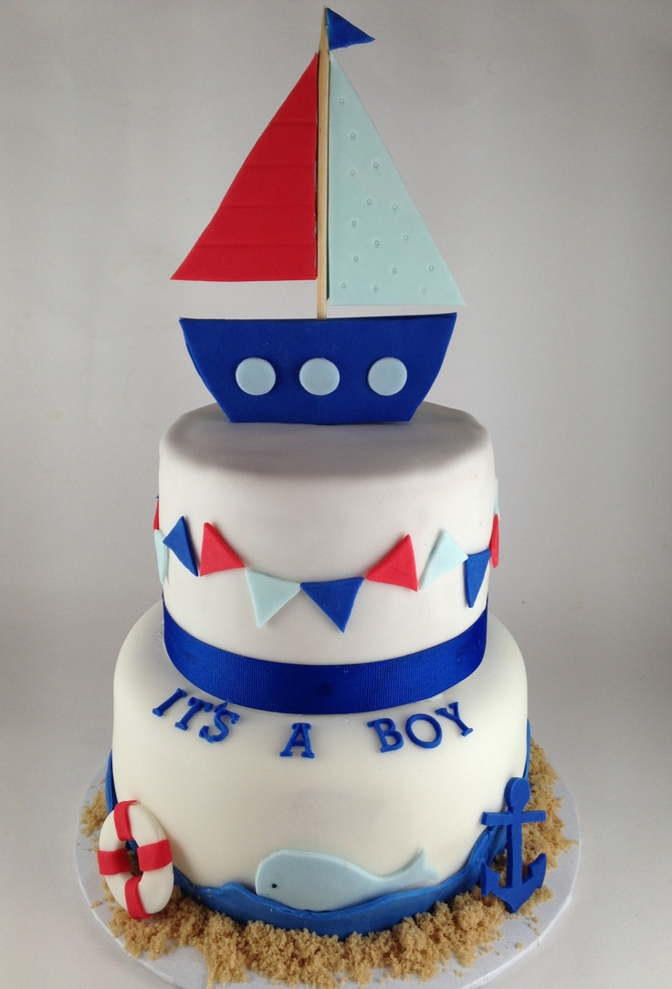 nautical baby shower cake ideas and designs