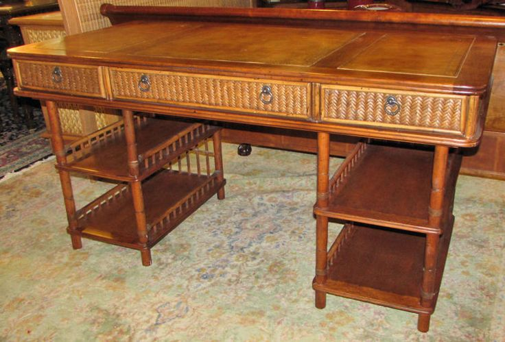 Furniture Consignment Stores Sacramento Table together with TOMMY BAHAMA LEATHER TOP DESK High End Furniture ...