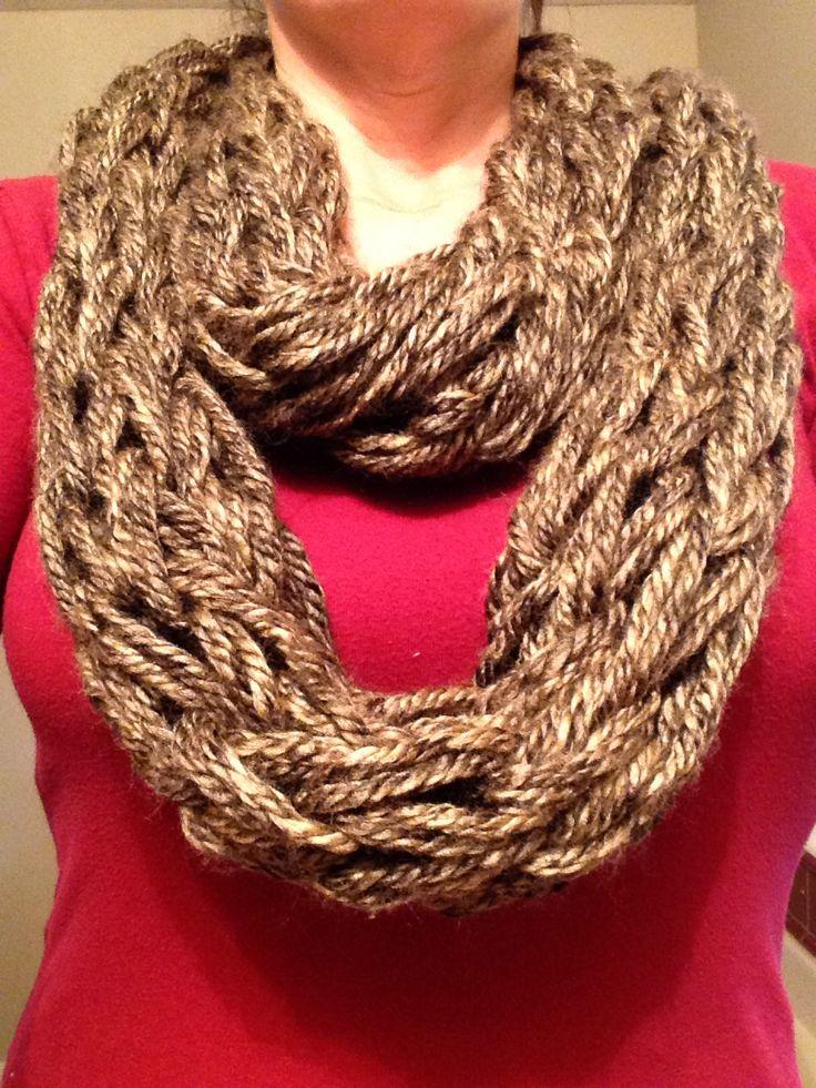 Arm-knit infinity scarf Lilac Primitives (my business) Pinterest