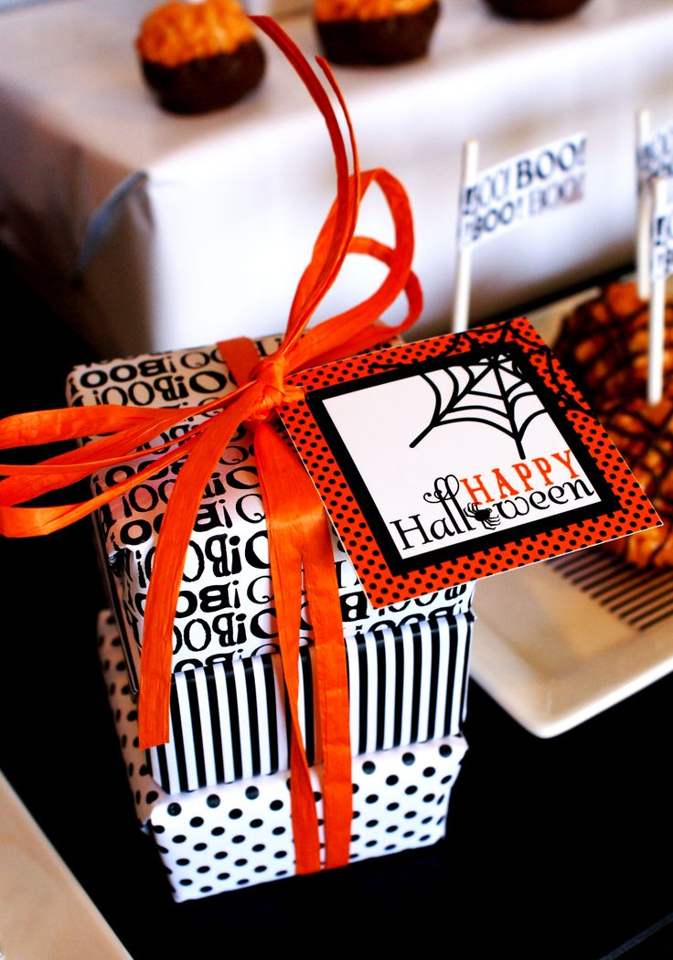 halloween wrapped gifts