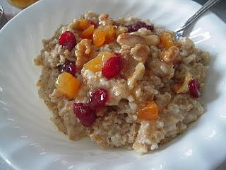 Steel Cut Oats - Cook in crockpot, top with walnuts, dried cranberries ...
