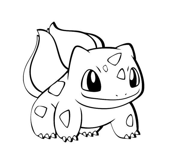 Bulbasaur Pokemon Black And White Sketch Coloring Page