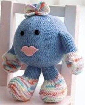 Amigurumi Knit Patterns : Free knitting pattern: Amigurumi Baby Girl