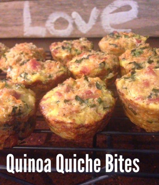 Quinoa Quiche Bites & More | Snacks for Kids | Pinterest