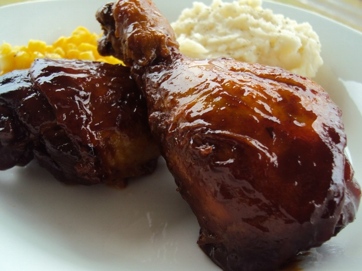 Slow Cooker Barbecue Chicken Drumsticks | Crock Pot | Pinterest