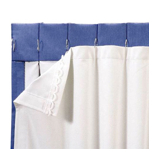 roc lon blackout energy efficient curtain panel liner white