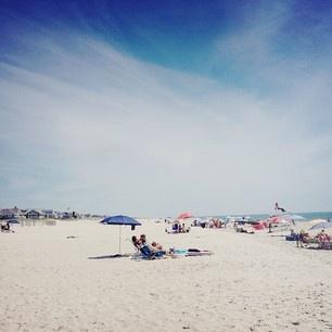 beachside in the Hamptons.