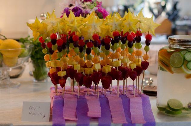Fruit wands! | Rainbow Fairy Princess Birthday | Pinterest