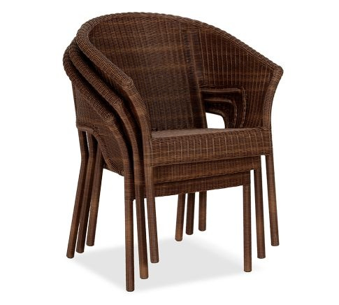 Stacking Weather Wicker Arm Chair FP Outdoor Patio