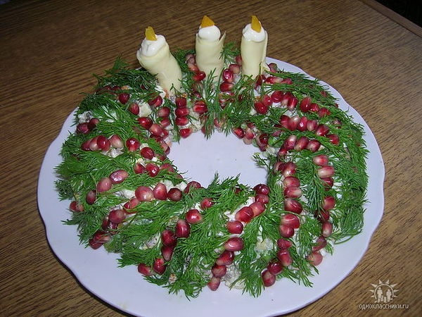 decorate the salad on Christmas day